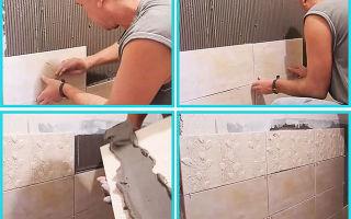 Как класть плитку на гипсокартон: можно ли кафель, своими руками технология, как в ванной ложить, видео