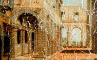 Фрески в интерьере гостиной фото: на стену мозаика, дизайн интерьера и стены в зале