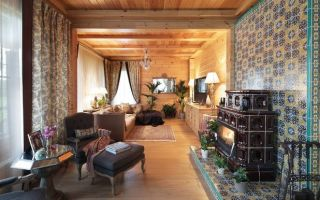 Отделка стен и потолков деревом: фото в частном доме, деревянной рейкой внутри, варианты для квартиры, как сделать