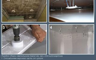 Подвесной потолок из пвх панелей своими руками: видео монтажа, как сделать в ванной