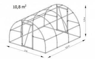 Теплица 3 на 4 из поликарбоната: 2х3 парник и сколько ширина, размеры и длина метра, 3х4 высота сборки и чертеж