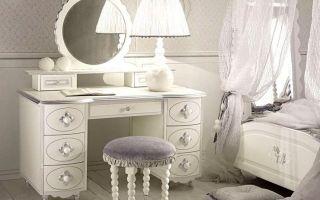 Туалетные столики с зеркалом для спальни: фото углового стола, икеа комоды, женские недорогие зеркала