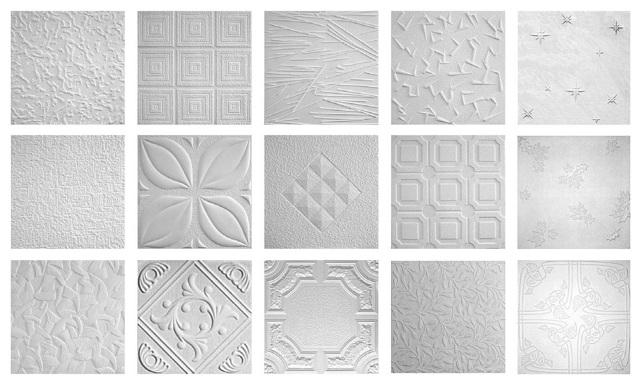 Плитка на потолок: покрытие полистирольное и легкое, как обновить, экструдированная и ПВХ, инжекционная и мозаичная, фото