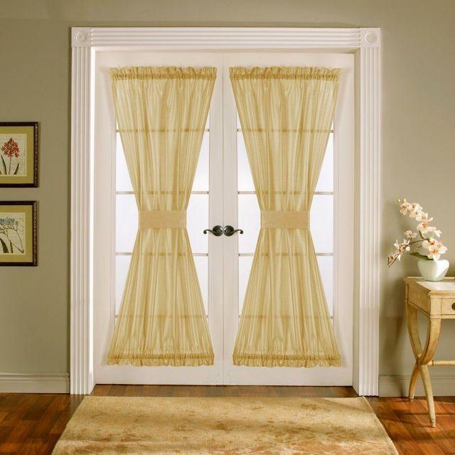 Шторы на двери и дверные проемы: как задекорировать без двери, фото занавесок, макраме на дверной косяк