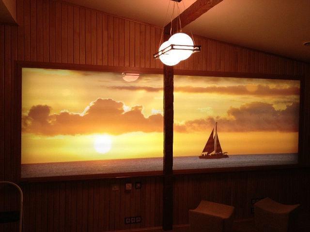 Световое панно: светодиодное на стене с подсветкой, из гималайской соли, новогодние стеклянные светильники