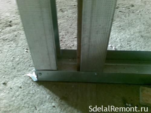 Устройство перегородок из ГКЛ по металлическому каркасу: толщина гипсокартона минимальная, гипсолит своими руками