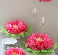 Как сделать большие цветы для украшения зала: дизайн гостиной, фото оформления из ткани, своими руками живыми