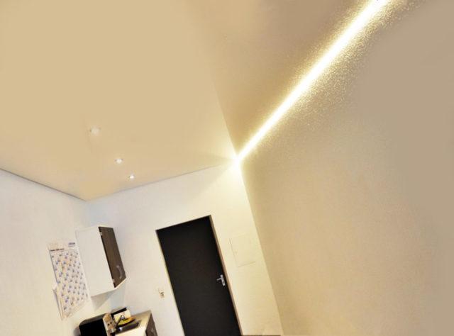 Парящий натяжной потолок: фото, профиль, видео, конструкция парящих линий, как сделать монтаж, отзывы