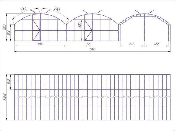 Промышленные теплицы: обогрев и проектирование пленки, чертежи и проекты, производство и строительство