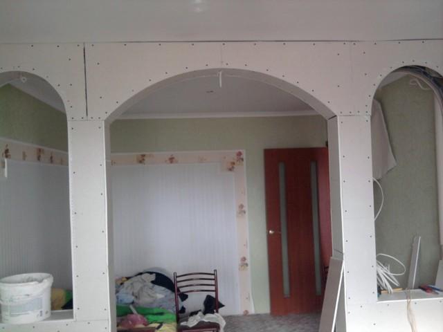 Квадратная арка из гипсокартона фото стали известны