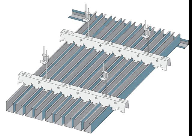Реечный подвесной потолок: монтаж подвесов металлических Албес, фото конструкции, установка и сборка, видео устройства своими руками