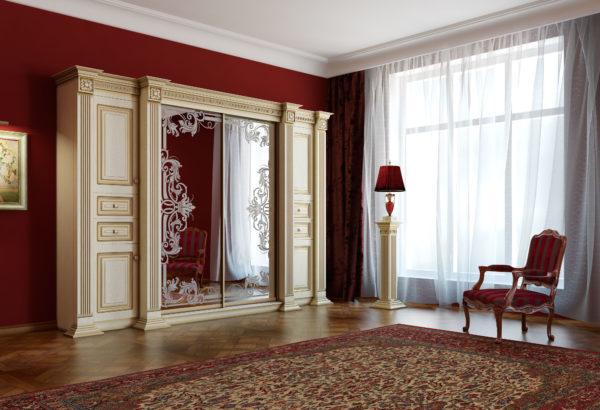 Шкаф-купе в гостиную во всю стену: фото и дизайн интерьера, большая стильная мебель, двери и их оформление