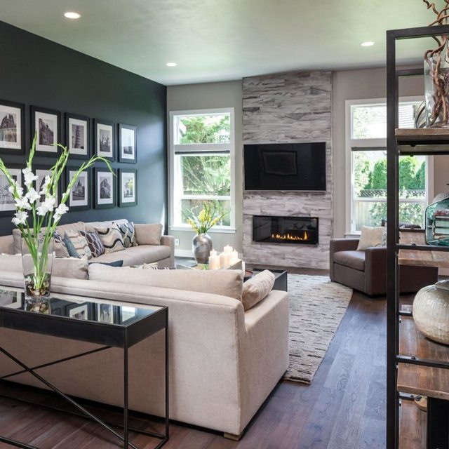 Современный стиль в гостиной: фото светлого комода, новинки в квартире и доме, красивые 18 кв. м, белый тон