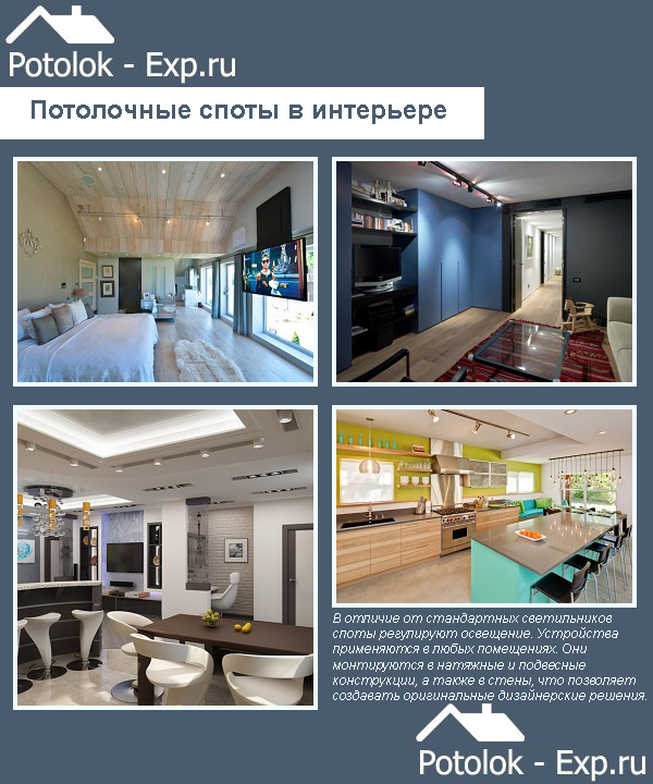 Споты для натяжных потолков: расположение накладных, фото установки, какие подходят, монтаж