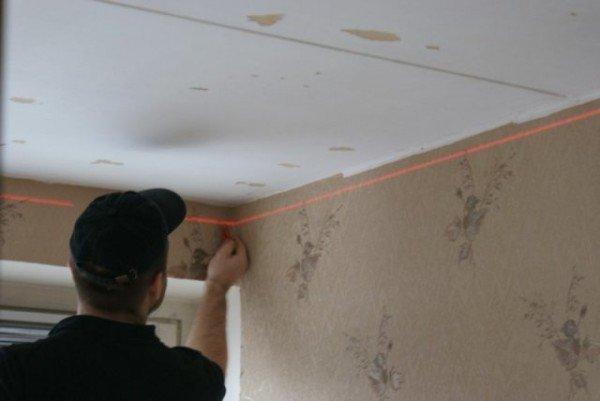 Потолок из гипсокартона двухуровневый фото: своими руками с подсветкой как сделать, видео, двойных устрйство, монтаж конструкции, каркаса чертеж