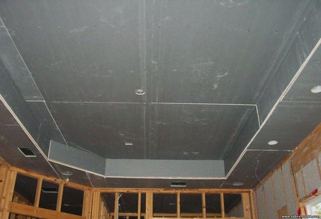 Потолок из гипсокартона без профилей: без каркаса, крепление на деревянный, как приклеить, монтаж