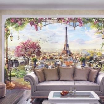 Обои фрески: фото на стену в интерьере, какие подобрать для кухни, виды флизелиновых, рисунки и панно