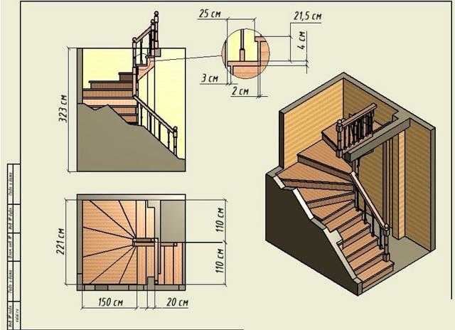 Размеры ступеней лестницы: стандарты и ГОСТ, в доме шаг и норма ширины, схема оптимальная, удобная и минимальная