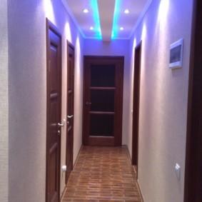 Потолок в коридоре из гипсокартона фото: подвесные для длинного своими руками, дизайн