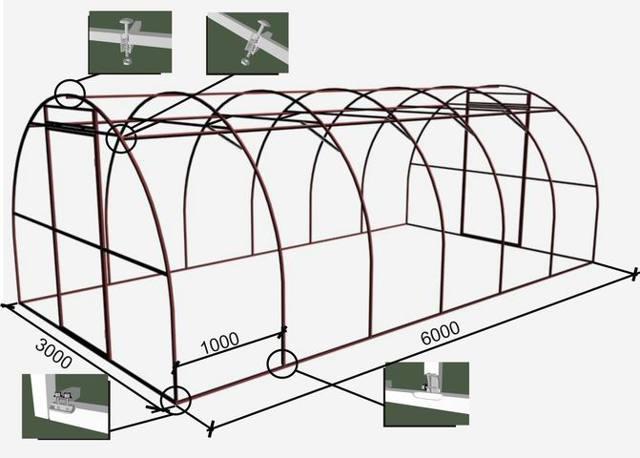 Схема теплицы: как построить своими руками из поликарбоната, сборка и размеры парника, посадка овощей