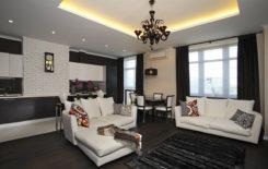 Освещение в гостиной: без люстры зал, комнаты дизайн большой, фото правильной столовой, светодиоды дополнительные