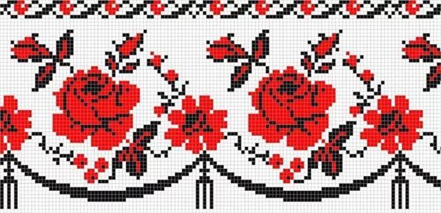 Вышивка крестиком полотенец: схемы вышивания бесплатно, узоры вафельные, болгарским вышить