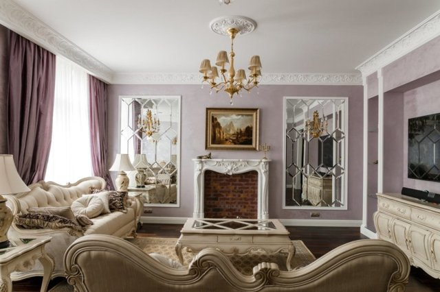 Потолок в гостиной: фото классического в столовой, красивые стены в 2020, цветовые идеи с высокими, современные варианты