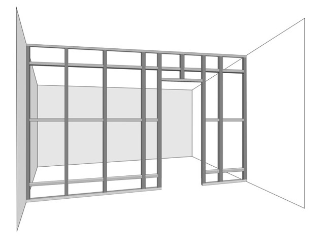 Перегородки межкомнатные из гипсокартона: фото как сделать, дверь своими руками, предел огнестойкости и устройство