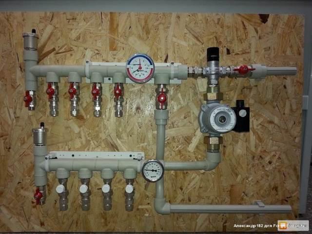 Гребенка отопления: распределительный коллектор системы, сделать из полипропилена своими руками, фото монтажа