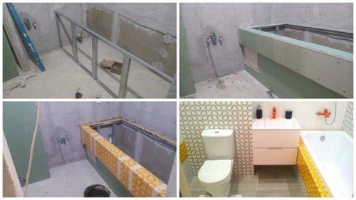 Гипсокартон в ванной: для комнаты из ГКЛ, сделать экран и отделку, как закрепить водонагреватель влагостойкий