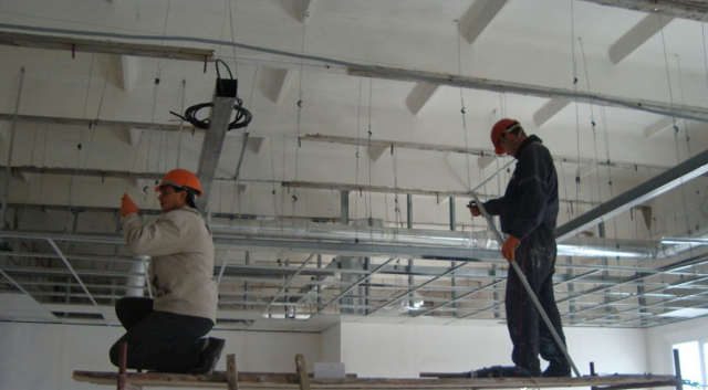 Расчет комплектующих подвесного потолка Армстронг: размер и расчет материала, вес на 1м2