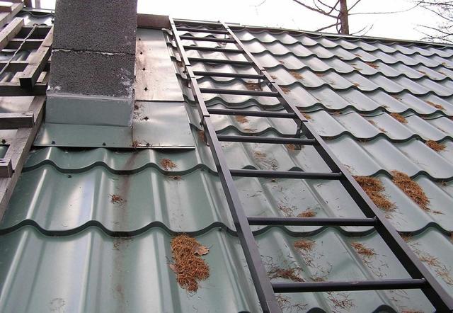 Кровельная лестница: для монтажа металлочерепицы на крыши, Металлпрофиль, металлическая своими руками, для выхода и для работ