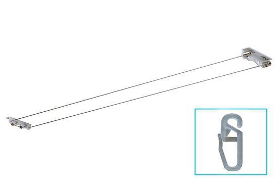 Струнный карниз: для штор струна, фото, как крепить гардину своими руками, как натянуть леску, встроенный карниз