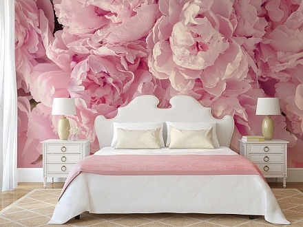 Цветы на обои на стену: красивые и крупные, розы в интерьере с маками, фото больших и мелких, пионы 3д красные