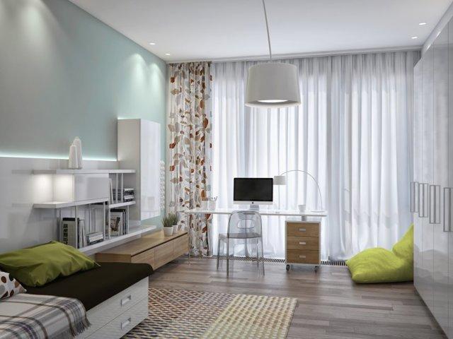 Дизайн спальни в бежевом тоне фото: цвета бежево-коричневые, интерьер слоновой кости, яркие шоколадные акценты