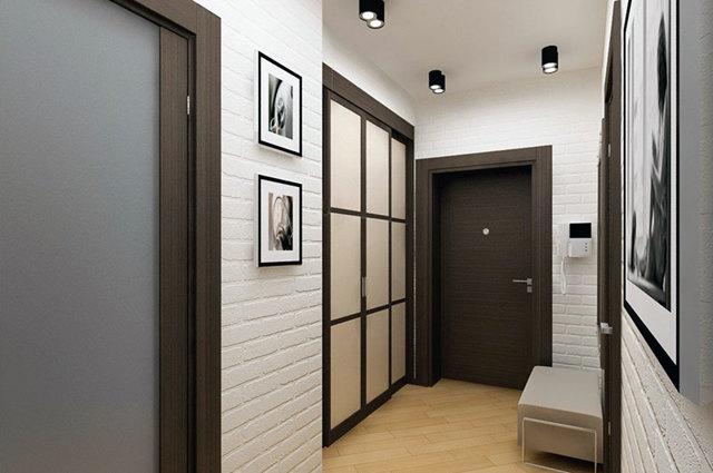 Прихожая комната в квартире: переделать коридор, планировка комнаты, фото с коном, без описания, дом проходящий