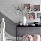 Виды поклейки обоев двух видов: фото, дизайн оклейки стен разными, как красиво наклеить, варианты и образцы
