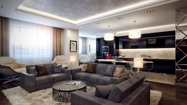 Интерьер большой гостиной: дизайн в доме, подходящие фото, просторная комната для семьи, цвет и огромный проект
