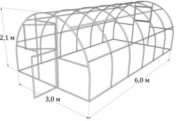 Размеры теплиц из поликарбоната: ширина парников и длина оптимальная, своими руками большие индивидуальные виды