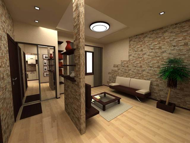 Перегородка коридор комната: как разделить между кухней, фото общего пользования, зонирование и дизайн с декором