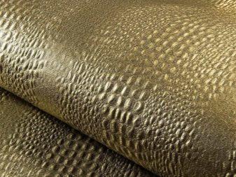 Обои под кожу в интерьере фото: под кожу крокодила и змеиную