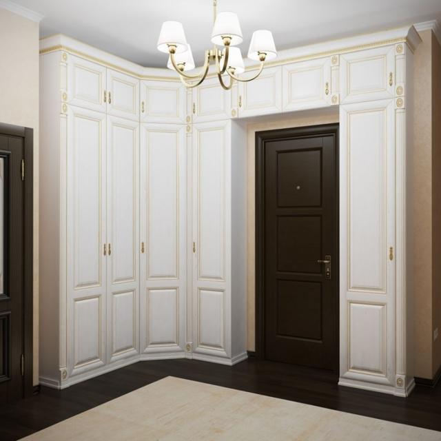 Угловые прихожие: каталог и фото, этажерка модульная в коридоре, необычные новинки в дизайне, столик г-образный