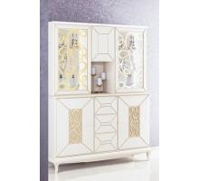 Шкаф для посуды со стеклом в гостиную: недорогой с фото, угловая стеклянная мебель, пенал в зал для книг