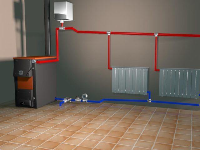 Система отопления с естественной циркуляцией: схема частного дома, самотечная вода, однотрубная и двухтрубная, почему