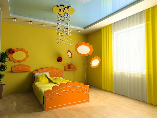 Потолки в детской комнате из гипсокартона фото: для мальчиков с подсветкой, своими руками двухуровневый