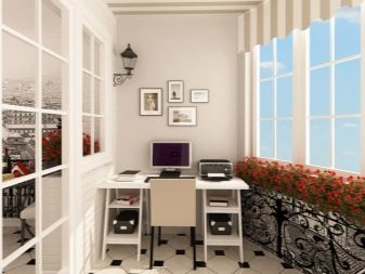 Кабинет на балконе: рабочее место на лоджии, фото и дизайн, компьютерная зона, переделка комнаты, стол сделать