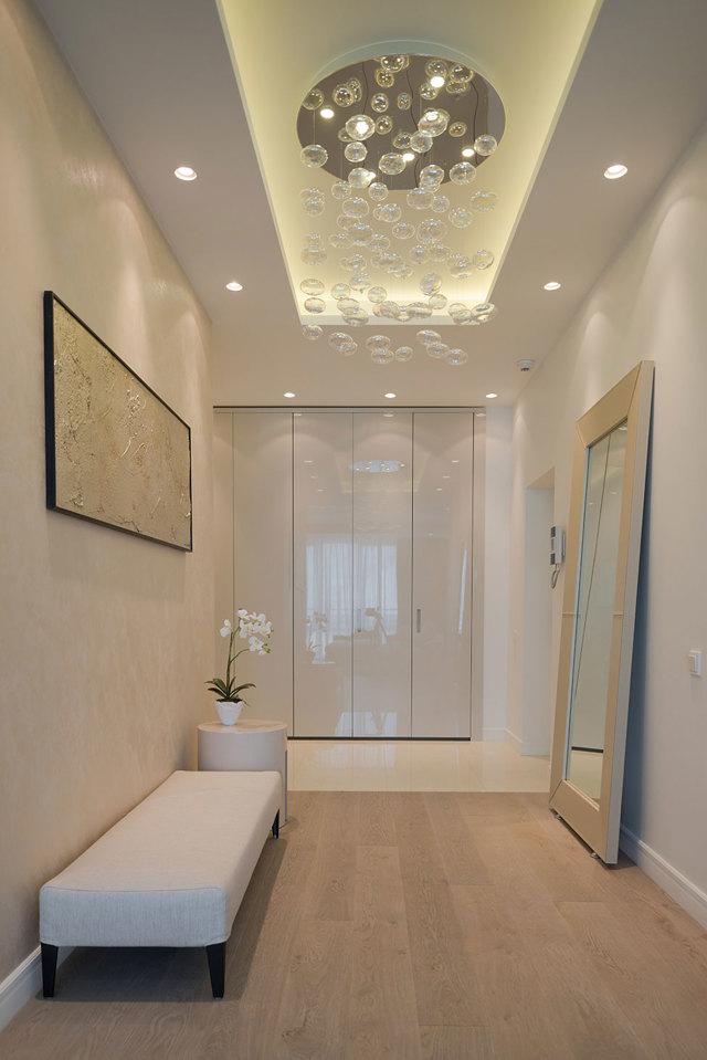 Потолки в прихожей из гипсокартона: фото красивых подвесных, дизайн своими руками