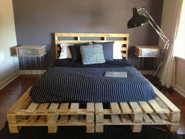 Кровати из поддонов своими руками: пошаговые фото изготовления