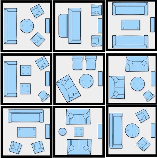 Как расставить мебель в зале: расстановка гостиной, варианты как правильно, план маленькой узкой, правила