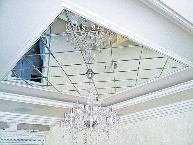 Зеркальное панно: с фацетом на стену, шкафы купе в интерьере, из плитки в спальне, в бамбуковой рамке своими руками